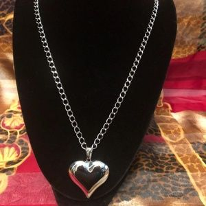 Stainless Steel Puffy Heart Pendant